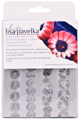 Lisa Pavelka Border Mold Daisy Chain Polymer Clay