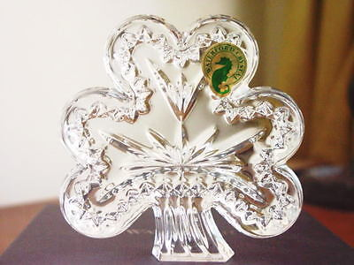 Waterford Crystal SHAMROCK Sculpture Paperweight  - NEW / BOX!