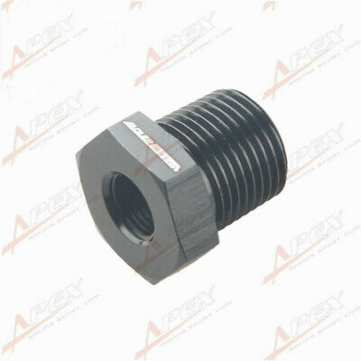 3/8'' NPT Male To 1/8'' NPT Female Adapter Adaptor Fitting Aluminum Black