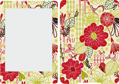 New Kindle Paperwhite Skin Cover  Sticker red And Green Floral Pattern KP10