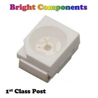 PLCC-2 SMD / SMT LEDs - Red, Blue, Green, White, Orange, Yellow - 1st CLASS POST