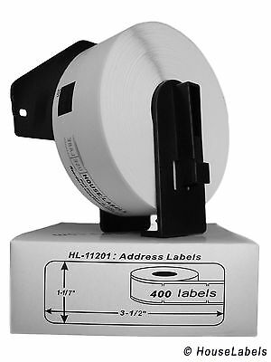 10 rolls of DK-1201 Brother-Compatible Address Labels with 1 Reusable Cartridge