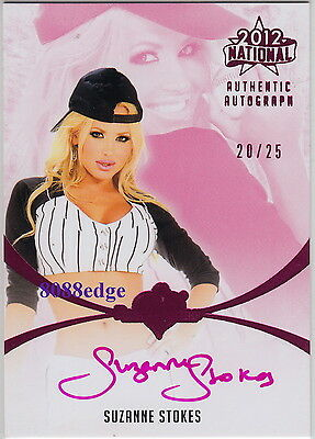 2012 Benchwarmer National Auto: Suzanne Stokes #20/25 Autograph Playboy Playmate