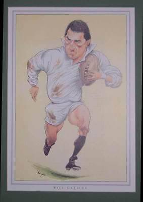 WILL CARLING, ENGLAND RUGBY PRINT by JOHN IRELAND