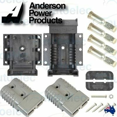 175A  Anderson Plug  External Mounting  Kit  + 2 X 175 Amp Plugs Camper Battery