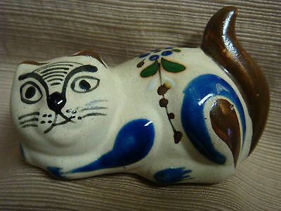 UNIQUE CAT - Handcrafted Partially Glazed Stoneware from MEXICO