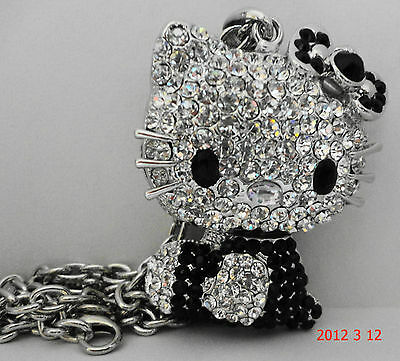 """HELLO KITTY NECKLACE"" IN DIFFERENT COLORS AUSTRAIN CRYSTALS-MUST SEE"