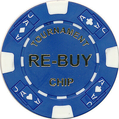 10 Re-Buy TEXAS HOLD'EM TOURNAMENT POKER CASINO CHIPS 11.5 GR CLAY COMPOSITE *