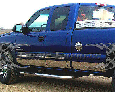 """2000-2006 GMC Sierra 4Dr Extended Cab Long Bed Rocker Panel-12p 7/"""" w//Flare"""