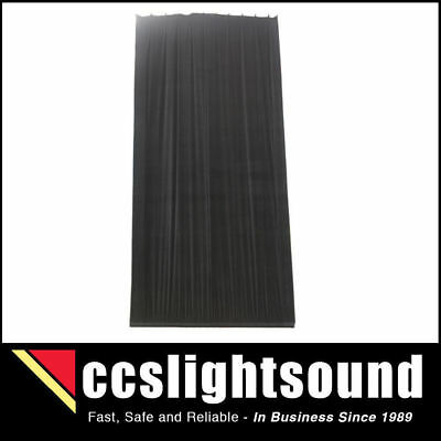 Bravo 3M X 6M Black Cotton Velvet Stage Curtain - Gathered _ 36A