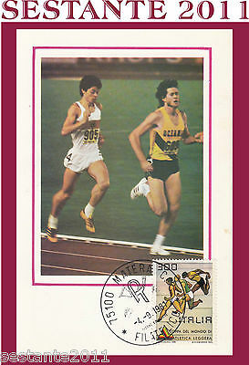 Italia Maximum Maxi Card 1981 Coppa Del Mondo Di Atletica Leggera (357)