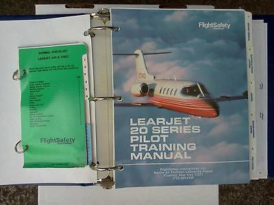 Lear 20 Training Manual/Checklist