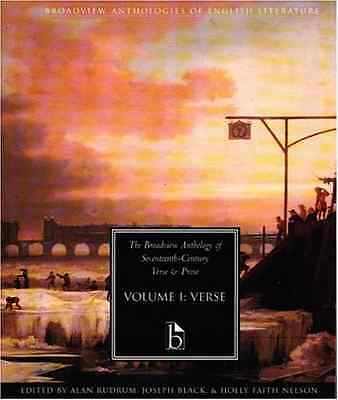 The Broadview Anthology of Seventeenth Century Verse an - Paperback NEW Alan Rud
