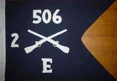 E Co 2nd Bn 506th PIR Band of Brothers Guidon Flag    Doublesided Made in USA