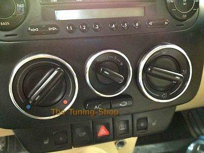 Fits VW NEW BEETLE HEATER CONTROL SURROUNDS DASH CHROME RINGS new Polished Alloy