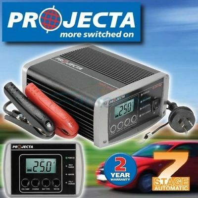 Projecta Ic2500 Battery Charger 12 Volt 25 Amp Suits Agm Deep Cycle Gel New