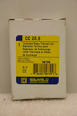 Square D CC 28.8 Overload Relay Thermal Unit **New in Box**