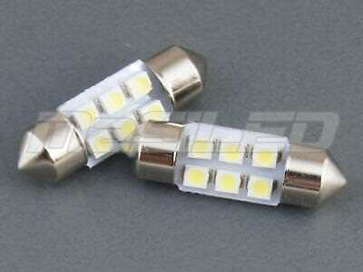 2 bombillas LED Festoon C5W 31mm 6 SMD 1210 color blanco puro 5000K