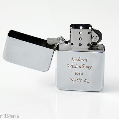 New Personalise Silver Lighter Gift For Any Occasion Birthday Fathers Day