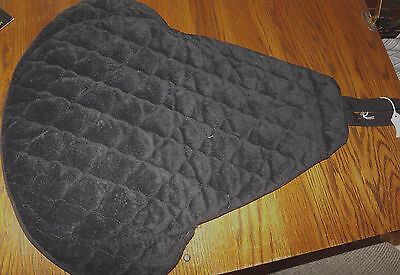 NEW Toklat Ultra Suede Western Seat Cover. Black Quilted/Padded