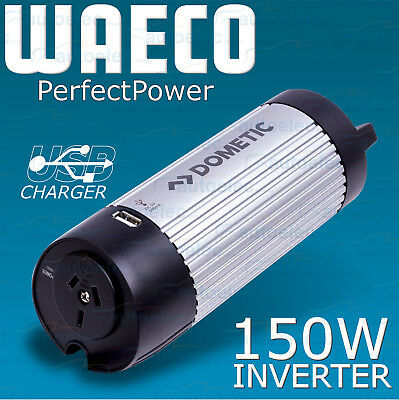 WAECO POWER INVERTER MODIFIED WAVE 150W 12V VOLT DC TO 240v AC NEW CAN SIZE CAR