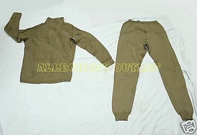 Expedition POLYPRO THERMAL UNDERWEAR SET Top Shirt & Bottom Pants US Military S