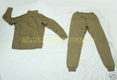 Expedition HEAVY POLYPRO THERMAL UNDERWEAR SET Top Shirt & Bottom US Military XS