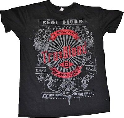 TRUE BLOOD Real Blood is for Suckers Distressed Black Male T-Shirt MEDIUM New