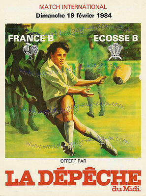 France B v Scotland B 1984 Quality Match Rugby Poster A2