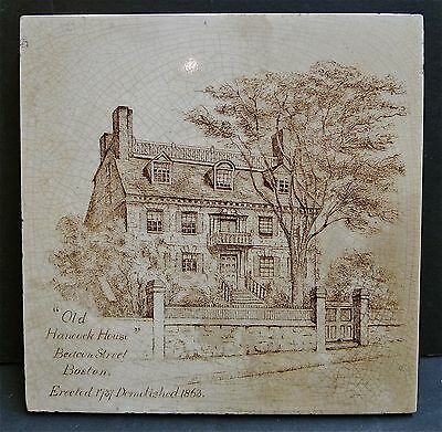 Mintons China Works Antique Tile-Old Hancock House, Boston, MA