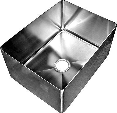 """ACE 16Ga Stainless Steel 3-1/2""""Center Drain Sink Bowl 16""""Wx20""""Lx14""""H  SB-162014"""