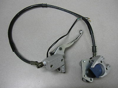 NEW - FRONT DISC BRAKE ASSEMBLY W/ LEVER GY6 150CC CHINESE SCOOTER MOPED - RIGHT
