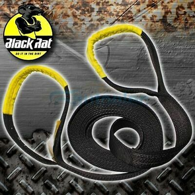 NEW BLACK RAT SNATCH STRAP 12000KG RECOVERY 4WD 4X4 9m x 75mm 9 METRES