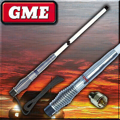 Gme Ae4705 White Heavy Duty Hi Gain Uhf Cb Radio Antenna Bull Bar Fiberglass New