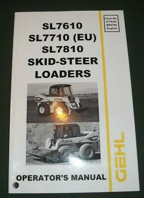 GEHL SL3510 SL3610 Skid Steer Loader Parts Manual - $29 95