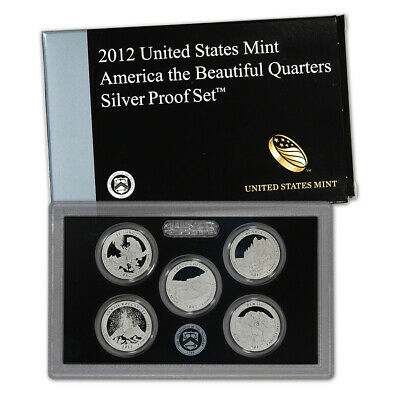 2012 US Mint Quarters Silver Proof Set