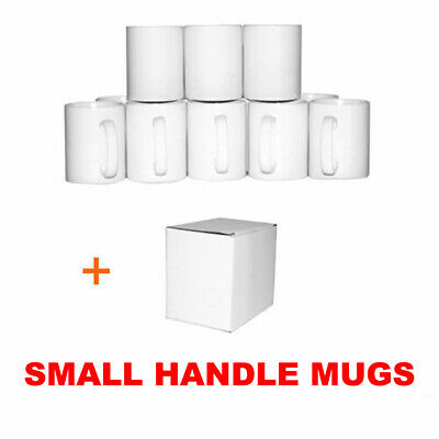 Sublimation Mugs Small Handle 11oz 720 ORCA Double Coated White Heat Press Print