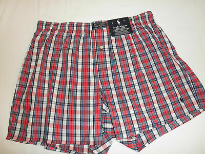 NWT $28 Mens POLO RALPH LAUREN Classic Fit Plaid Boxers Underwear  S, L, XL