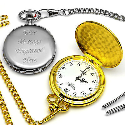Pocket Watch Wedding Gift Present For Best Man Usher Father Of The Groom / Bride