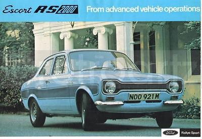 Vintage Ad Ford Escort MK1 RS2000 Classic Magazine Advert