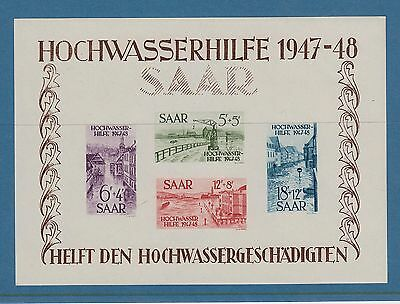 Germany Saar 1948 Flood Relief Sheets Scott B64A & Cb1A Superb Mnh