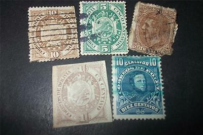 Small Lot Of Old Bolivia Stamps - Stamp Collection