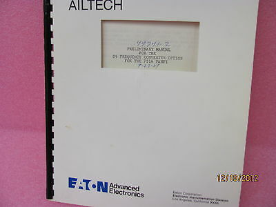 AIL 7514 09 Frequency Converter Option for the 7514 PANFI Instruction Manual