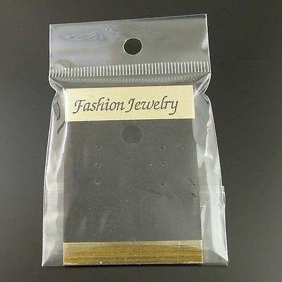 10*5cm PVC Black Jewelry Case Earring Display Hanging Card With Bag Hot 100pcs