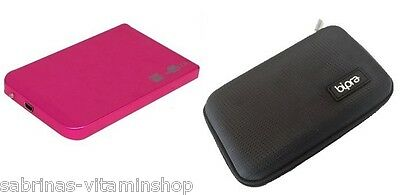 160GB External USB Hard Disk Drive Portable Pocket Free Case worth £5.99 S Pink