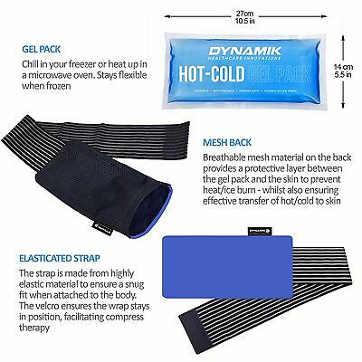 Multi-Purpose Reusable Hot/Cold Pad with Compress Wrap for Effective Pain Relief