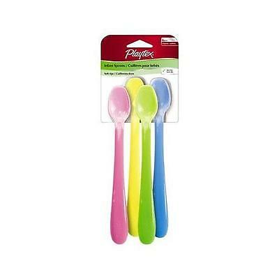 New Playtex Baby Mealtime Infant Spoons: 4 Pack