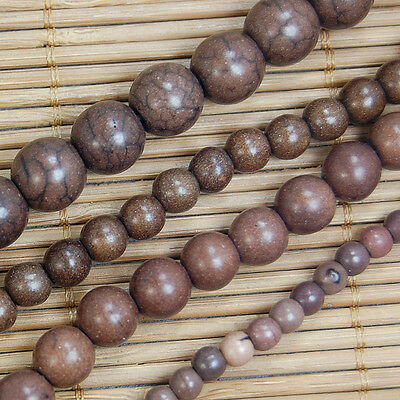"Coffee Howlite Turquoise Gemstone Round Beads 15.5"" 4mm 6mm 8mm 10mm Pick Size"