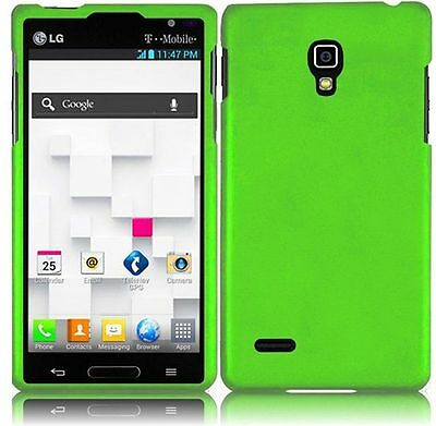 For LG Optimus L9 Rubberized HARD Protector Case  Phone Cover Neon Green