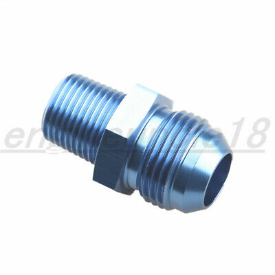 -12AN AN12 12AN To 1/2'' NPT Straight Adapter Pipe Fuel Oil Fitting Blue